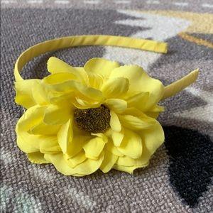 Other - Girls Yellow Flower Headband